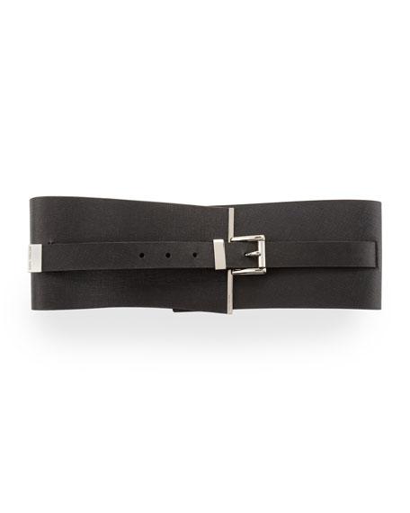 Saffiano Corset Belt