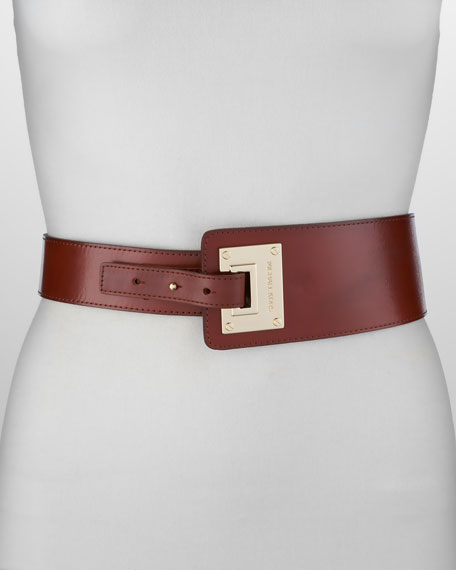 Asymmetrical Leather Belt