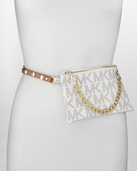 Logo-Embossed Belt Bag With Chain Detail