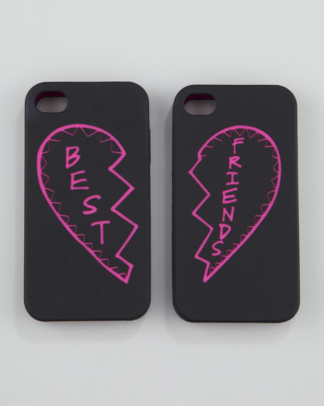 Best Friends iPhone 4 Case Set, Black/Pink