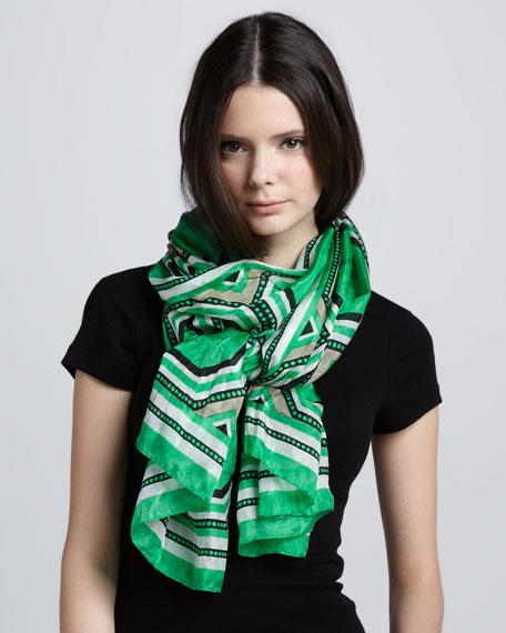 Printed Silk Wrap