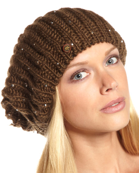 Jeweled Slouchy Hat