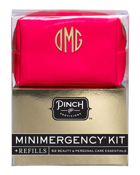 Minimergency Kit For Her With Refill, Neon Red