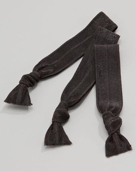 Ursula Hair-Tie Set, Black