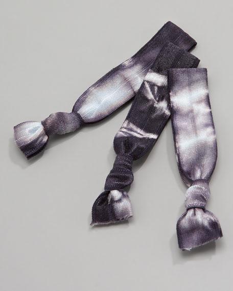 Ursula Tie-Dye Hair-Tie Set, Black