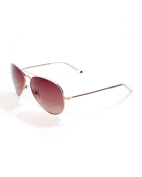 Kennedy Plastic Aviator Sunglasses