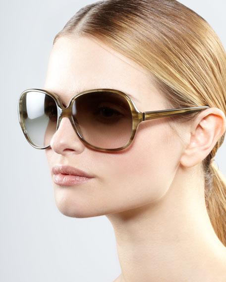 AERIN Isobel Sunglasses, Green