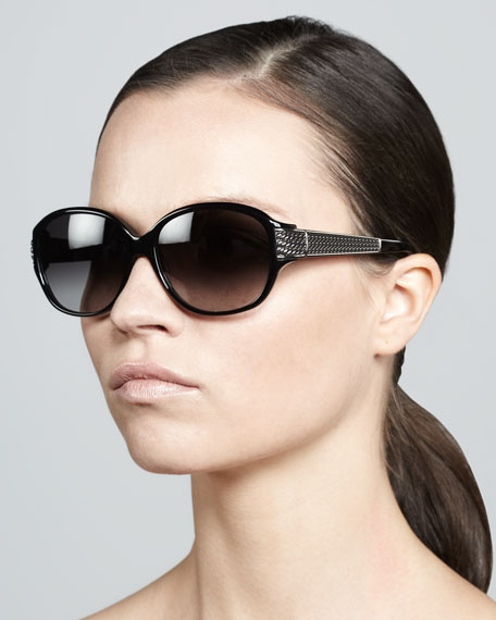Stretched Wheaton Sunglasses, Black Onyx/Gunmetal