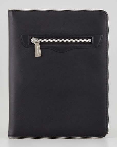 Maddie Zipper-Trim iPad 2 Case, Black