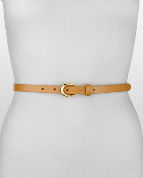 Smooth Leather Belt, Tan