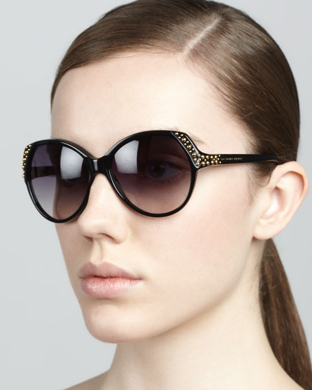 Studded Sunglasses, Black