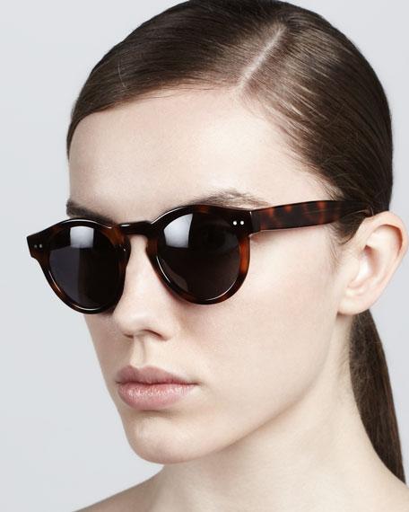Leonard Round Sunglasses, Havana