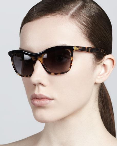 Defined-Bridge Sunglasses, Tortoise