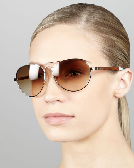 Aviator Sunglasses, Golden
