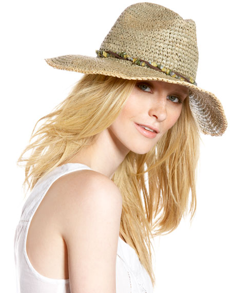 Beaded Raffia Hat