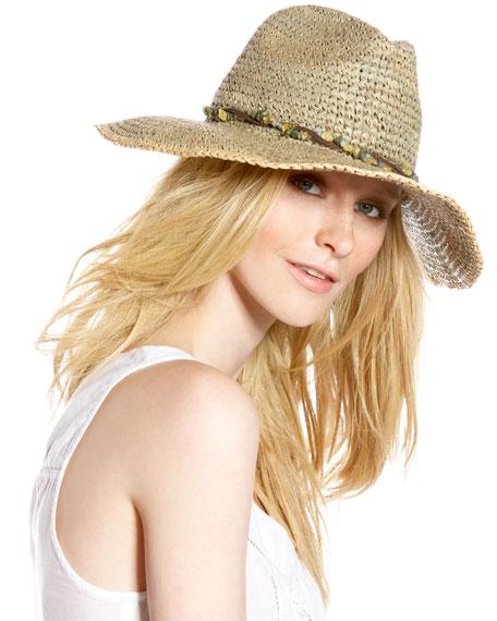 Beaded Raffia Hat