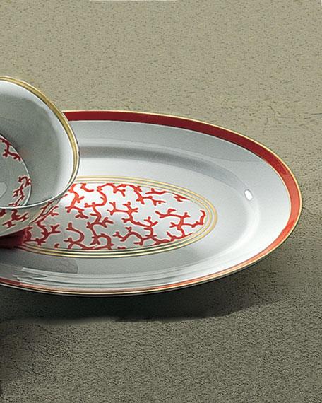 Coral Cristobal Large Oval Platter