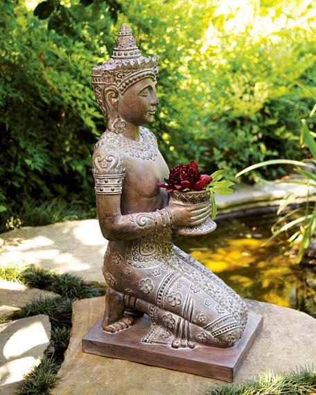 Kneeling Thai Statue