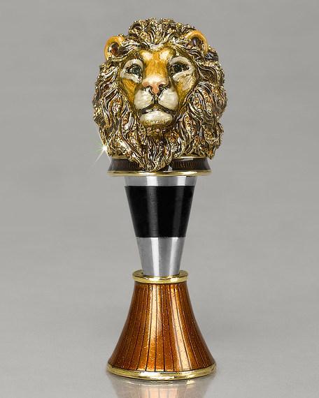 Lion Wine Stopper