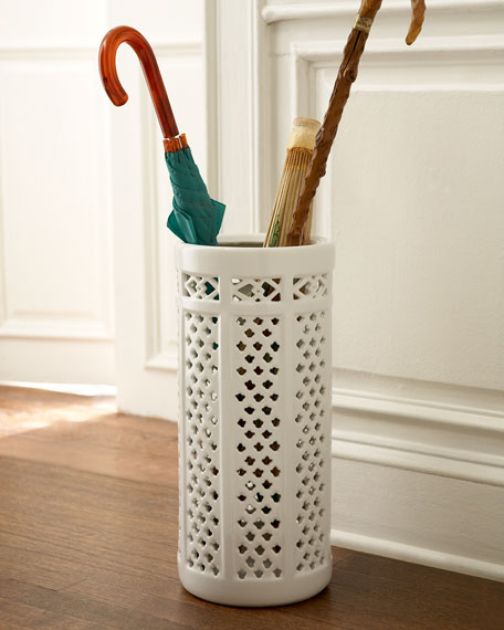 porcelain umbrella stand. Black Bedroom Furniture Sets. Home Design Ideas