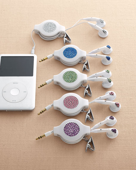 Retractable Crystal Earbuds