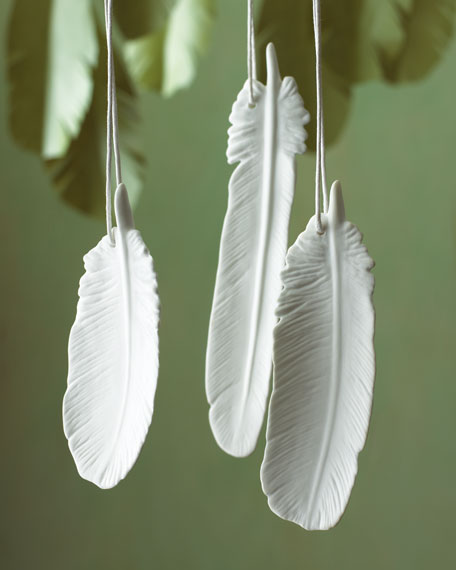 Three Feather Ornaments