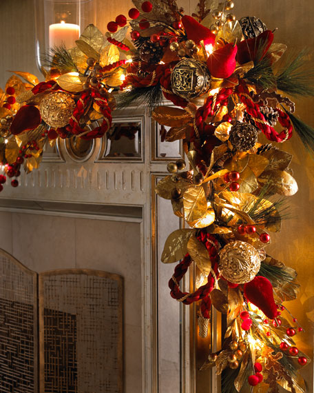 """Crimson Christmas"" Garland"