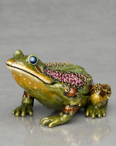 """Prince"" Frog Paperweight Clock"
