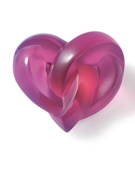 Fuchsia Heart Paperweight