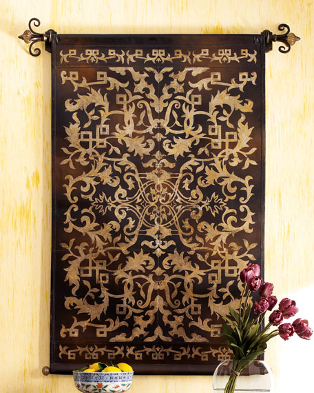 Leather Scroll Tapestry