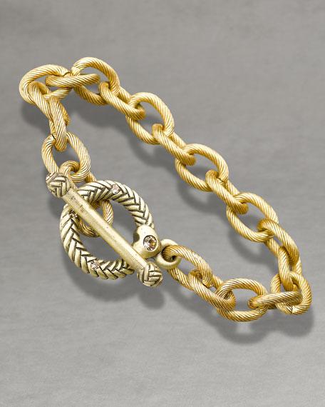 """""""Rhodes"""" Toggle Bracelet, 8"""""""