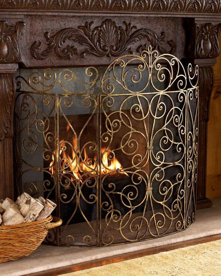 """Claudette"" Fireplace Screen"