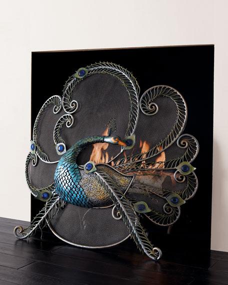 Peacock Fire Screen
