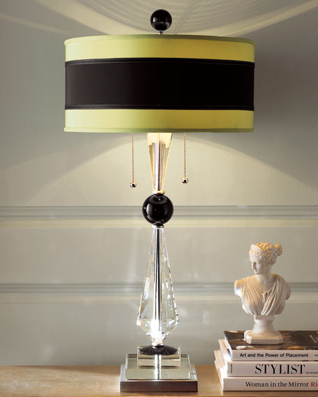 Black & Citrine Buffet Lamp