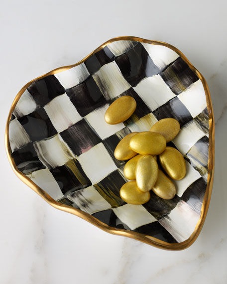 Courtly Check Heart Plate