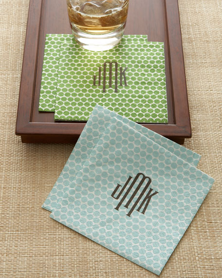 "Personalized ""Dots"" Cocktail Napkins"