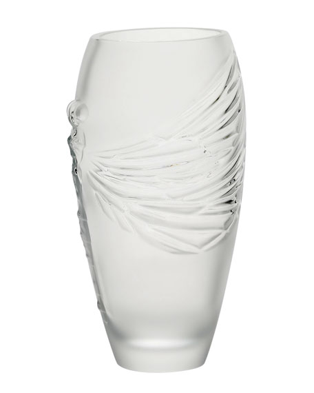 "Clear ""Libellule"" Vase"
