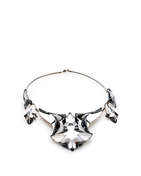 Pampilles Silver Long Necklace