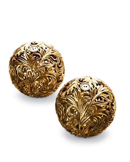 Scrolled Sphere Salt & Pepper Set