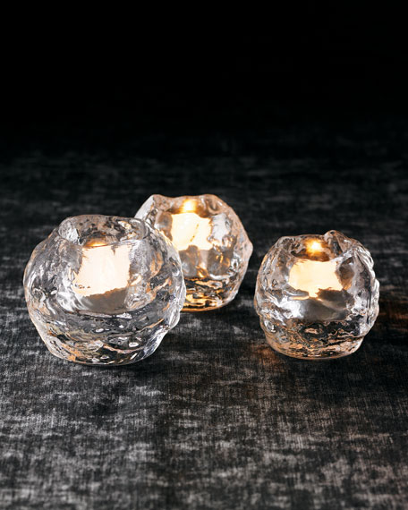 "Three Kosta Boda ""Snowball"" Votives"