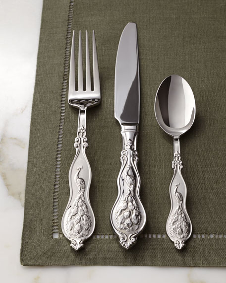 45-Piece Peacock Flatware Service