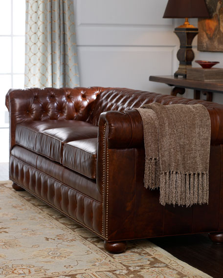 """Sectional Sofas In Hickory Nc: Old Hickory Tannery """"Stedman"""" Leather Sofa"""