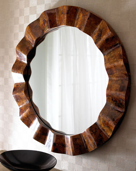 Brown Capiz Shell Mirror