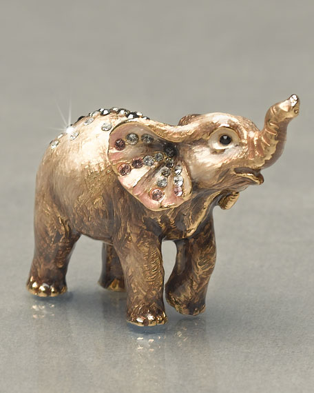 """Ruby"" Elephant Mini Figurine"