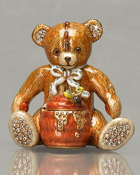 """Roger"" Teddy Bear & Honey"