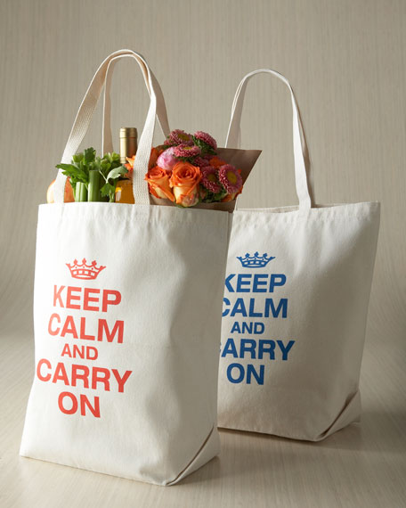 """Keep Calm & Carry On"" Tote"