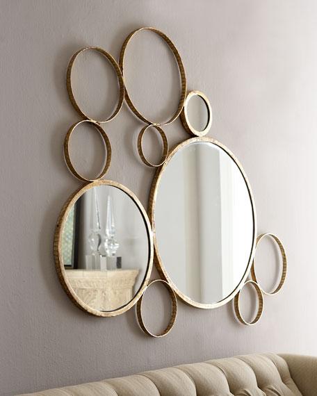 """Orbit"" Mirrored Wall Decor"