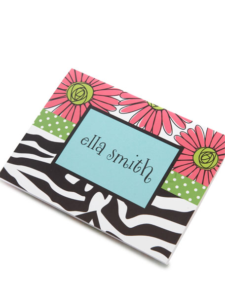 """Zebra Daisies"" Notecards"