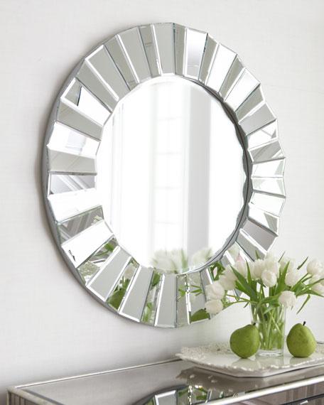 """""""Glamour"""" Round Mirror"""