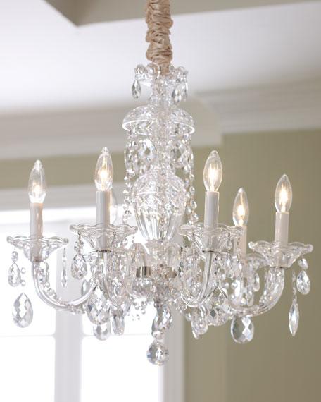 Six-Light Crystal Chandelier